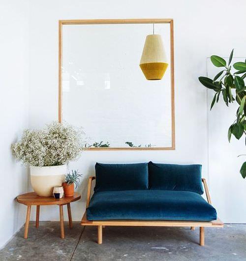 Terciopelo en decoración de hogar
