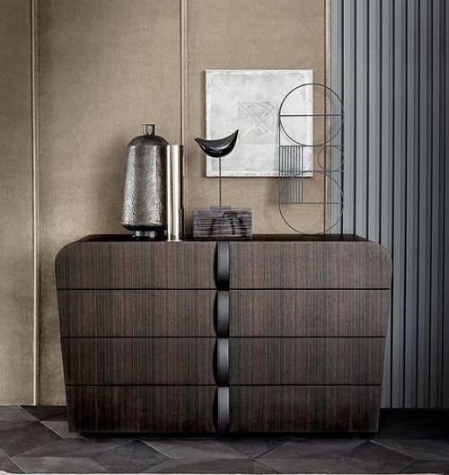 Decoración de mobiliario con curvas