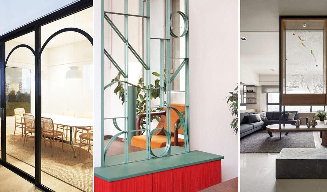 Separación de estancias en arquitectura de interiores