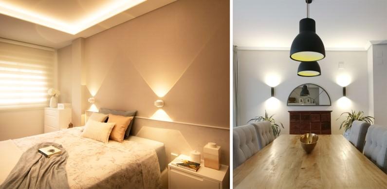 iluminación casa de revista