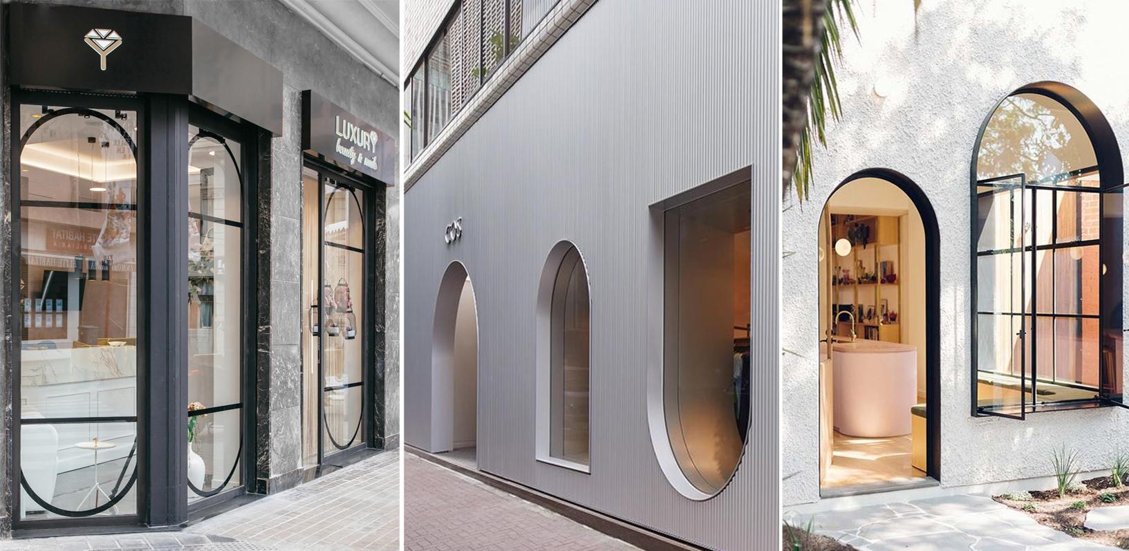 Diseños con arcos en fachadas